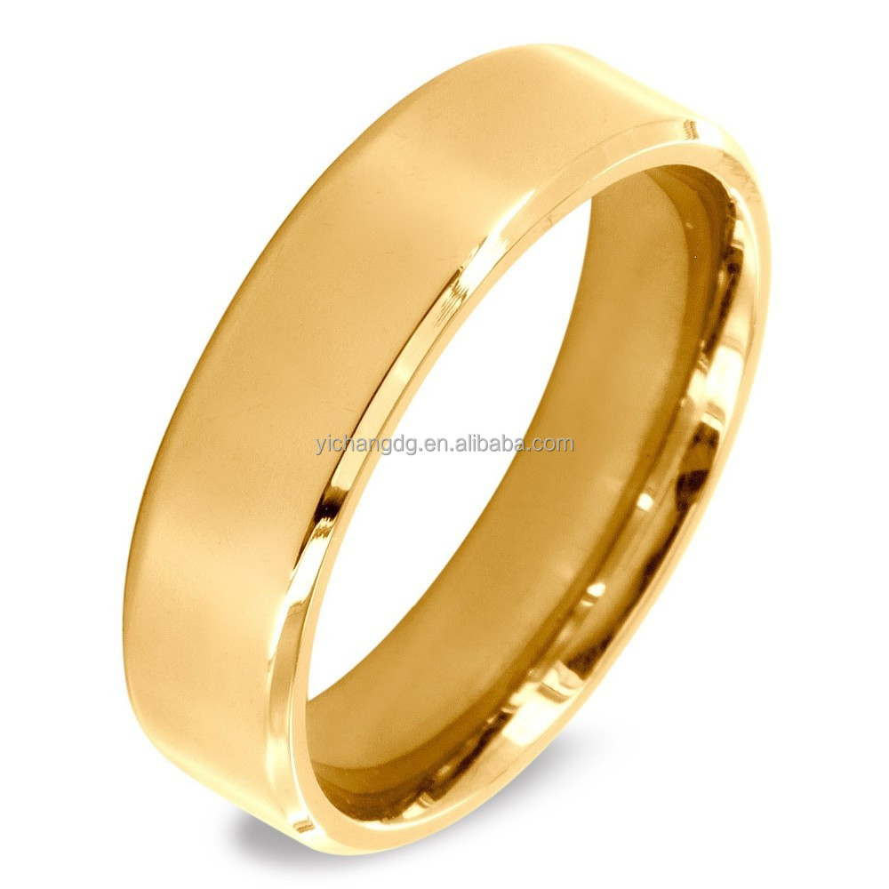 24k Gold Plated Dubai Wedding Rings Jewelry Model Gold Rings Design