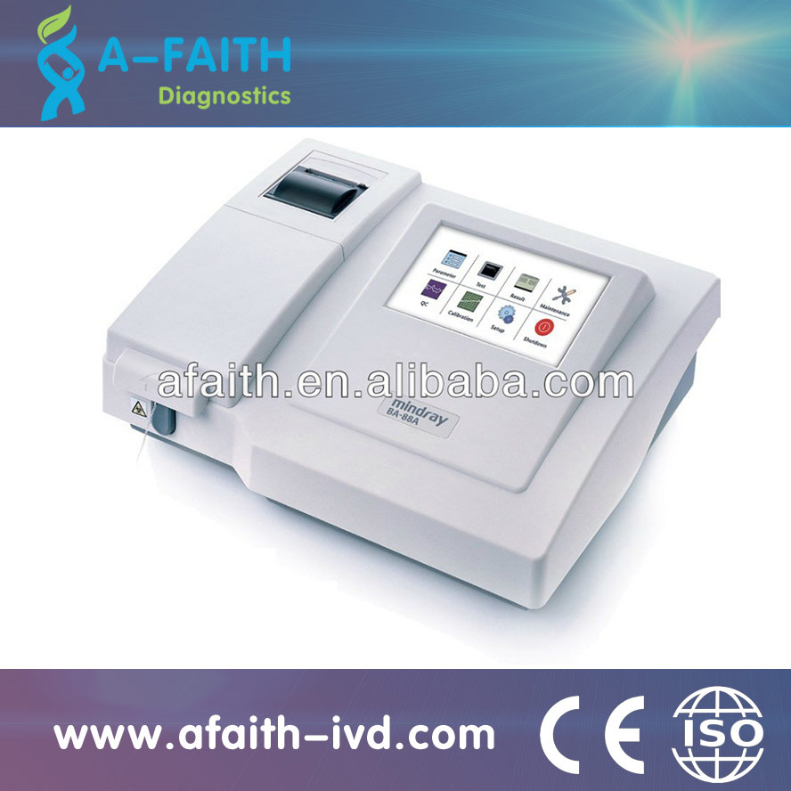 CE BA-88A Top Brand Mindray semi-auto biochemistry analyzer