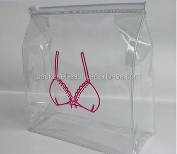 dca2fec9b8 Clear Soft Pvc Plastic Underwear Bra Packaging Bags With Zipper Closure -  Buy Pvc Bra Packaging Bags