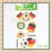 OEM design colorful tattoo sticker Flag and Football Tattoo