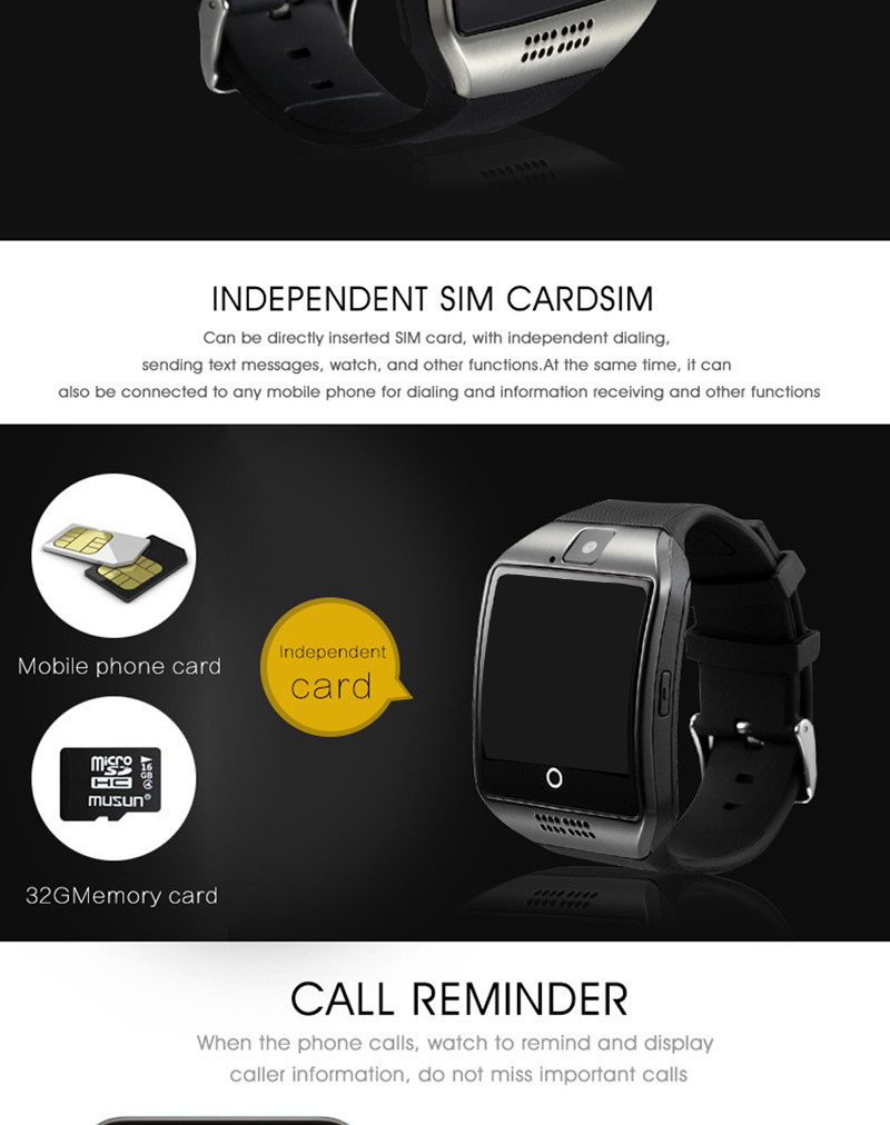 2019 Wholesale Low Price Bluetooth Q18 Call Reminder SMS