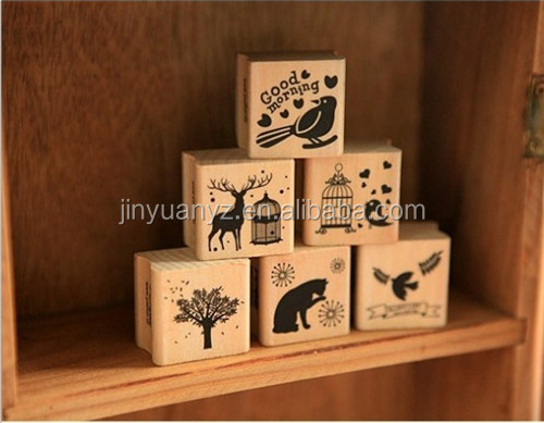 The hot selling customized forest wood stamps set for DIY