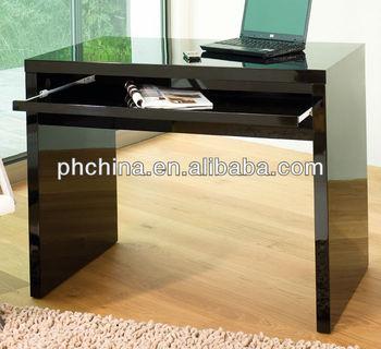 Pw3383 Acrlico Escritorio Negro Acrlico Negro Mesa De Oficina