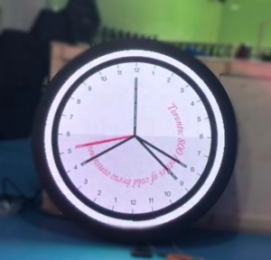 HD P2.5 full color round shape electronic digital led clock for wall