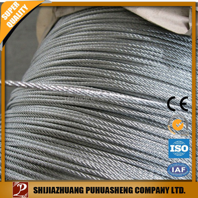 Hot sell 2015 new products galvanized steel wrie rope