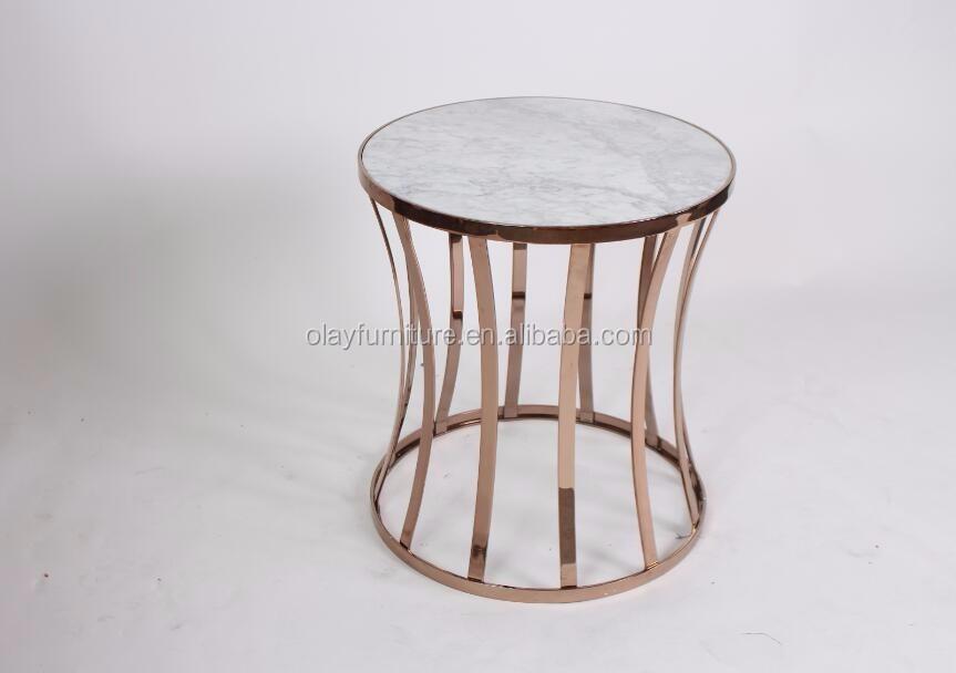 Piedra de acero inoxidable de latón metal mesa auxiliar muebles del ...