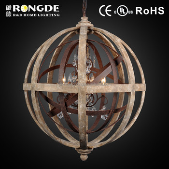 Best Ing Products Wood Ball Light Chandelier With Crystal Wooden Product On Alibaba