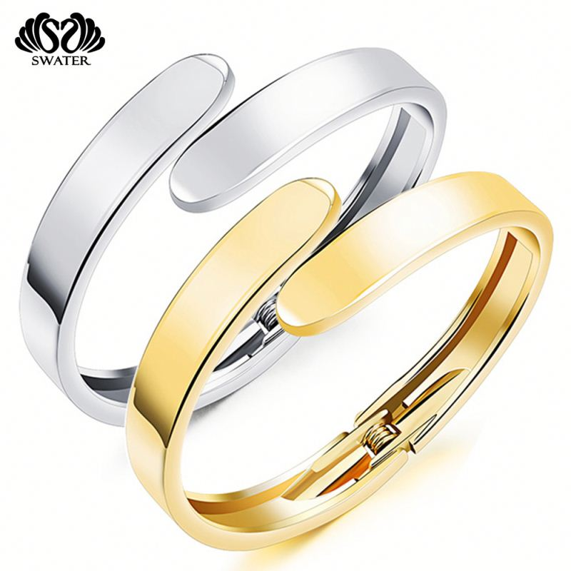 New Products 2017 Stainless Steel 6 Gram Gold Bangles Designs