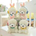 kawaii Earphone Rabbit Plush Toys Rabbit Doll Kids Gifts 4Styles 22CM Bunny Stuffed Animal Rabbit Toy