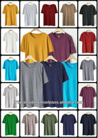 Stock lot Plain T Shirt O-neck for men Apparel 2013
