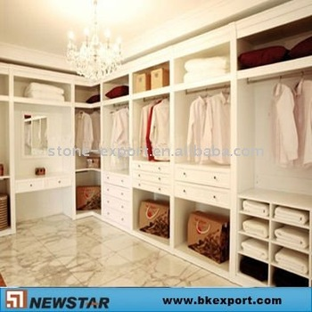 white colour walk in wardrobe closet for bedroom