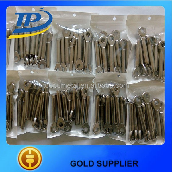 China high quality stainless steel 304/316 wire rope swage eye terminal