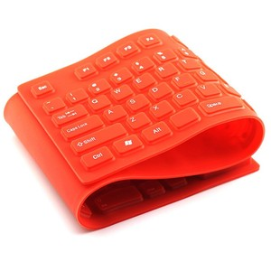 colourful silicone rubber keyboard flexible roll up keyboard for PC laptop