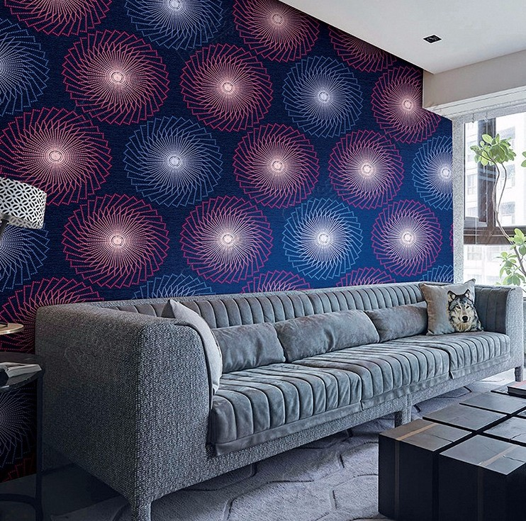 2017 Circle pattern designer textured wallpaper in Guangzhou