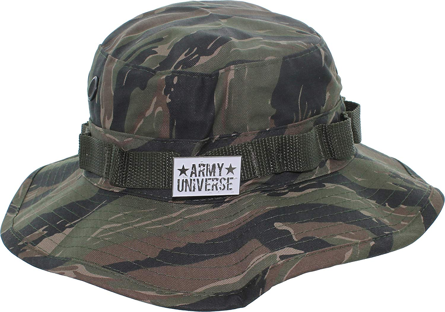 Army Universe Tactical Boonie Hat Military Camo Bucket Wide Brim Sun  Fishing Bush Booney Cap with 66e3e8afa3c