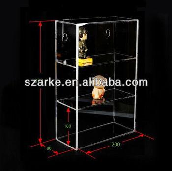Wall Mounted Acrylic Display Case Box Model Toys Doll Storage
