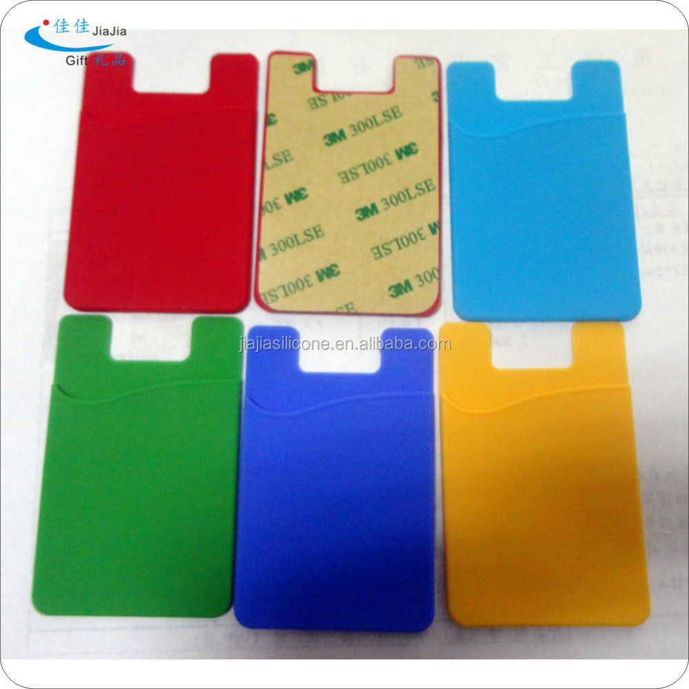 DongGuan factory mobile phone accessories silicone smart phone case/cellphone case card holder with adhesive sticker