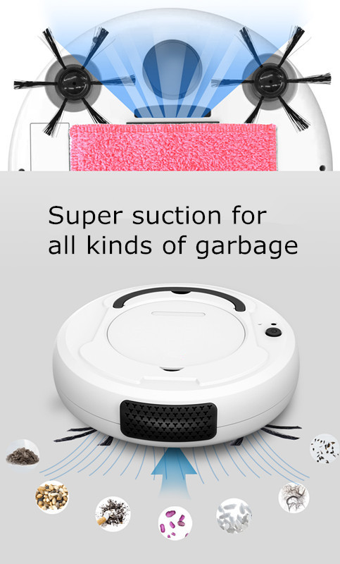 Floor Sweeping 3 in 1 industrial smart automatic Robot vacuum cleaner for home