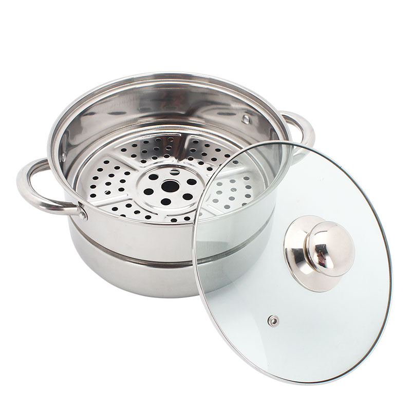 Stainless steel steamer and cooking pots 4 layer food steamer pot