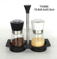 TW990 spice grinder with glass jar with plastic rack