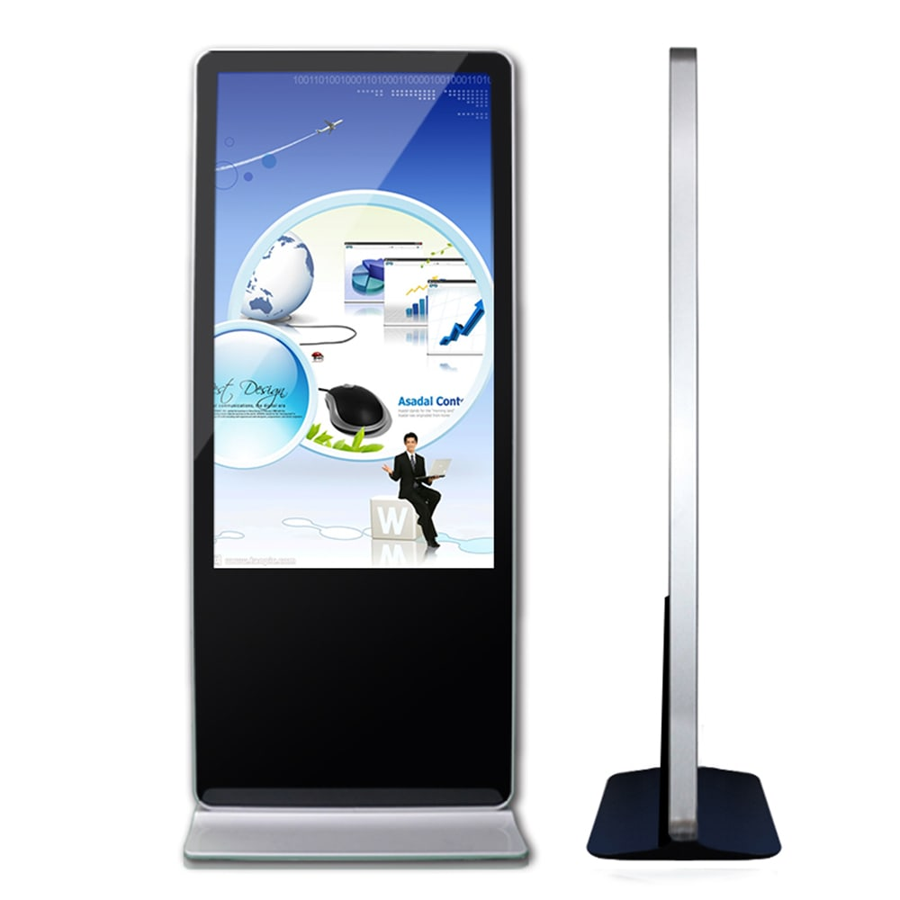 43 inch PC all in one interactive kiosk LCD digital signage display totem touch screen