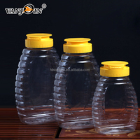 250ml Clear Plastic Squeeze Honey Bee Packing Bottles With Silicone Cap