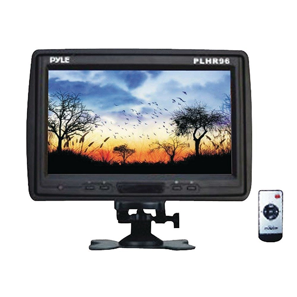 "PYLE PRO PLHR96 9"" TFT LCD Cut-in Headrest Monitor with IR Transmitter, Stand & Shroud"