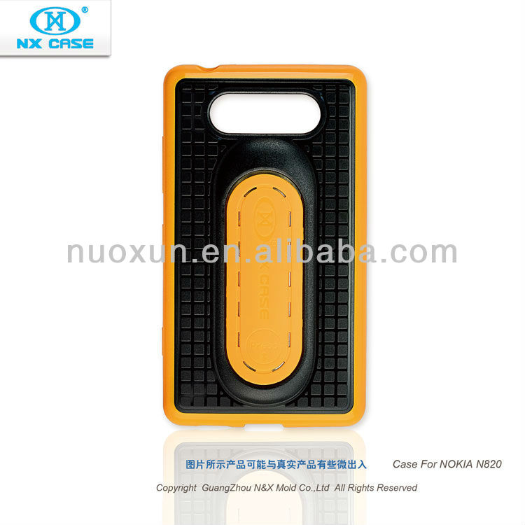2013 hot sell fashion design TPU+PC stander cell phone case for Nokia N820