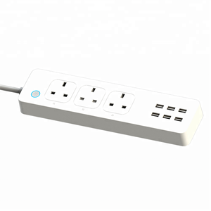 Wifi Smart Power Strip with 6 USB Charging Port and 3 Smart AC Plug
