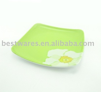Top Quality Heat Resistant Light Green Melamine Square Deep Plate Bowl Buy