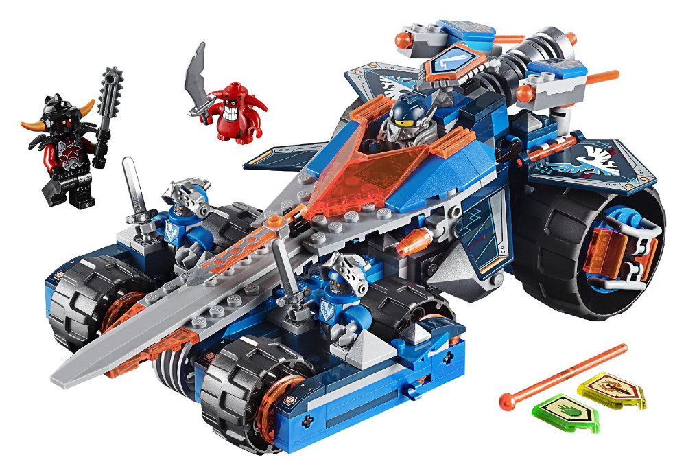 UKLego Nexo Knights Axl Clay's Rumble Blade Combination Marvel Building Blocks Kits Toy.