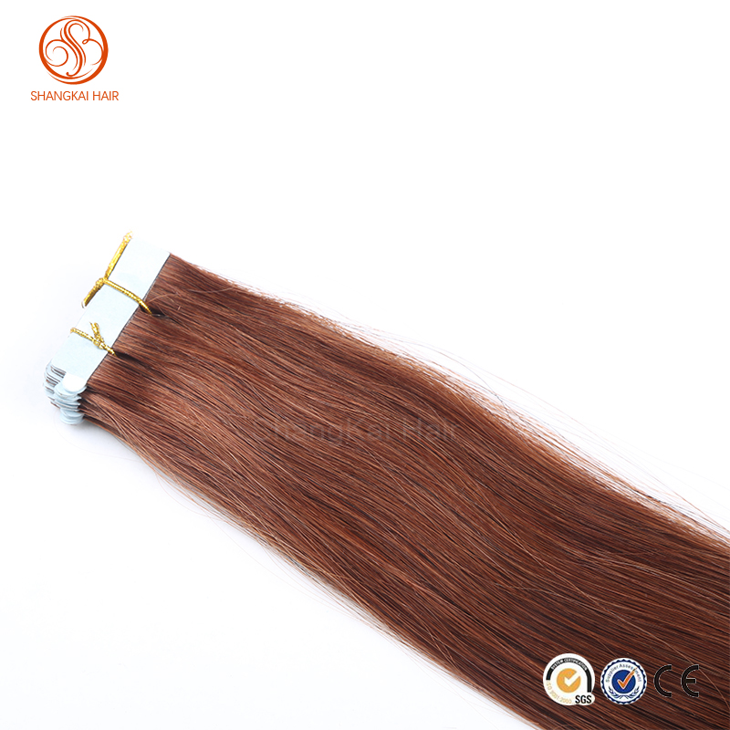 2015 Best selling mongolian human Hair 100 percent skin weft tape remy hair extensions