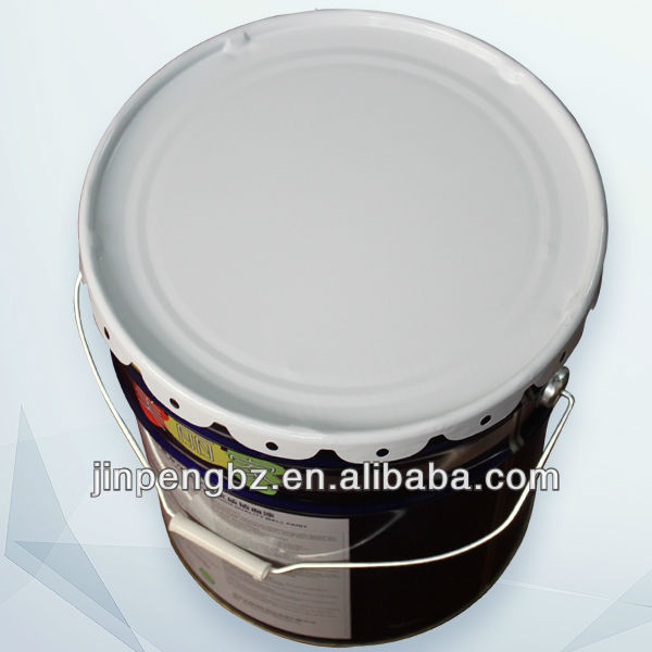 printed painting round handle tin can