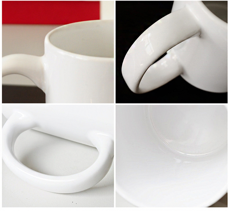 Amazon hot sale 330ml white coffee ceramic mug/porcelain mug