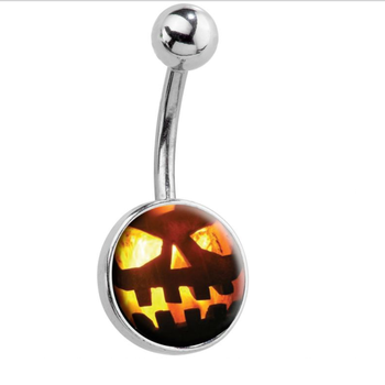 Fashion Halloween pumpkin belly navel piercing jewelry wholesales