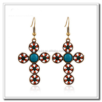 Jewelry 2016 Fashion Design girl gothic cross earrings