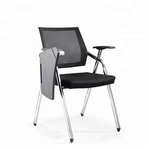 office training room adult study table chair with writing pad