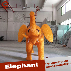 Elephant LED Lighting Sculpture lamp as Holiday Decoration
