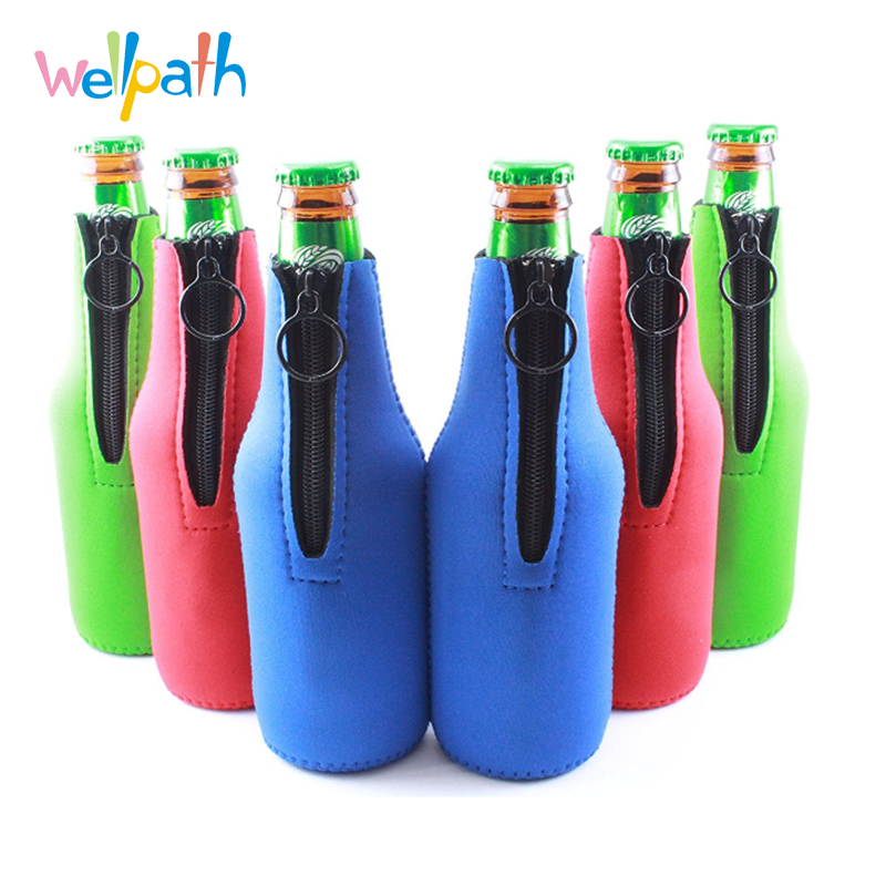 Bottle Sleeve Water Bottle Holder Neoprene Carrier with High Quality Zipper