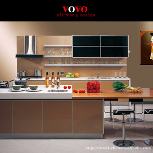 Affordable modern high gloss kitchen cabinets