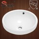 SN0130-506 Bathroom Porcelain Round Drop In Sink With UPC