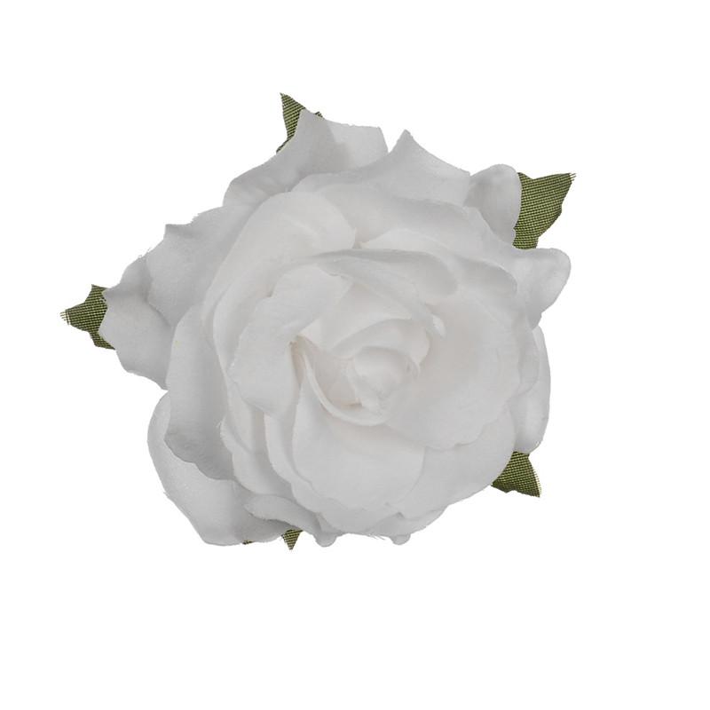 Grosir Bunga Mawar Buatan Besar Sutra Warna-warni Keluaran Baru