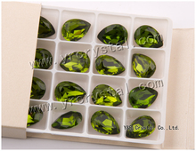 Nice Olivine drop stones for apparel,garment,clothing