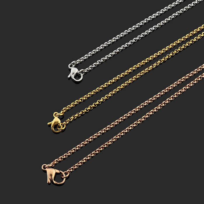New Arrivals 2018 2mm Stainless Steel Rolo New Gold Chain Design ...