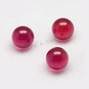 Top sale ruby ball smooth loose ruby beads