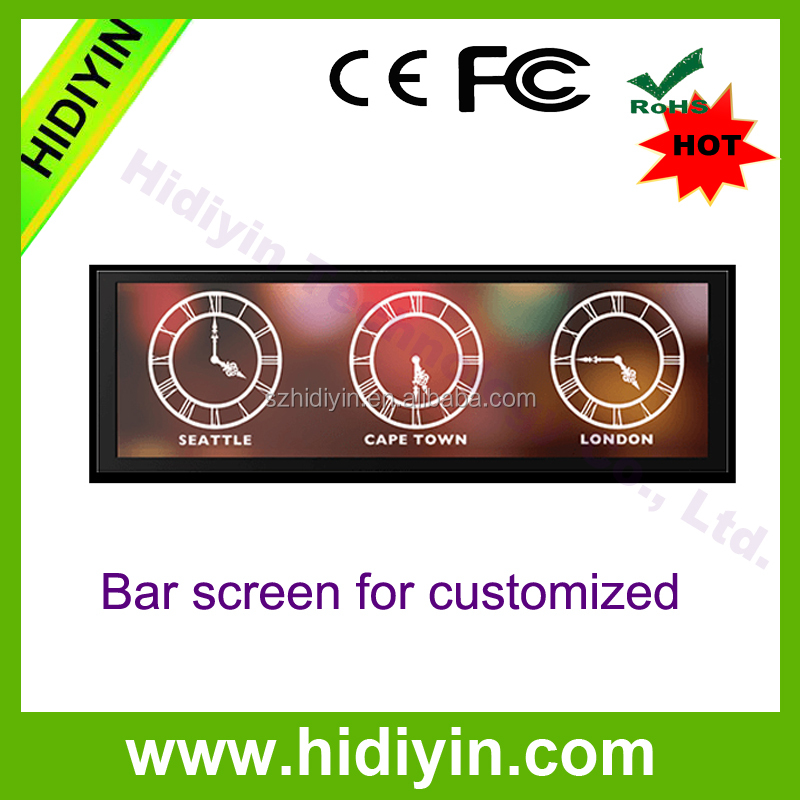28.8 inch stretched Bar LCD advertising display fascinating ultra wide display