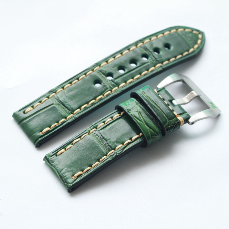 Natural Crocodile Leather Men's Watch Strap