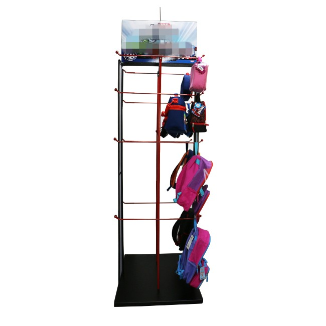 Floor metal backpack bag school display stand