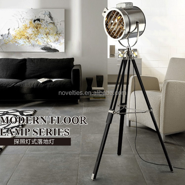 Top Quality Chrome Modern Floor Lamp Hotel Stand Light