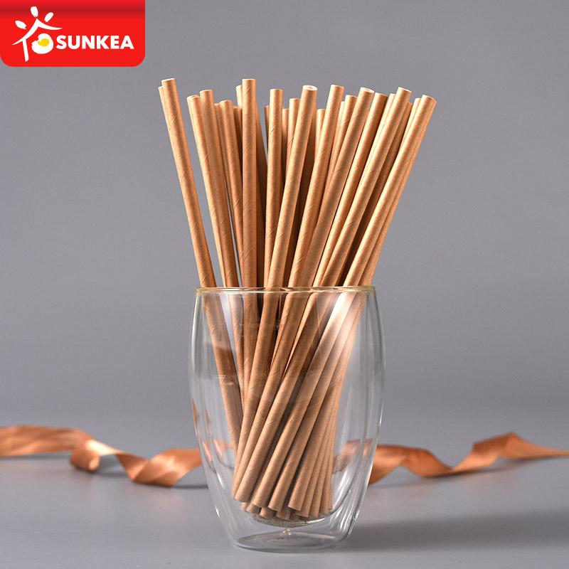Trung quốc nhà cung cấp trà bong bóng wax brown kraft giấy ống hút đối với đảng